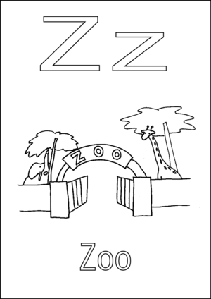 z is for zoo coloring page zoop coloring pages coloring home coloring z for page zoo is