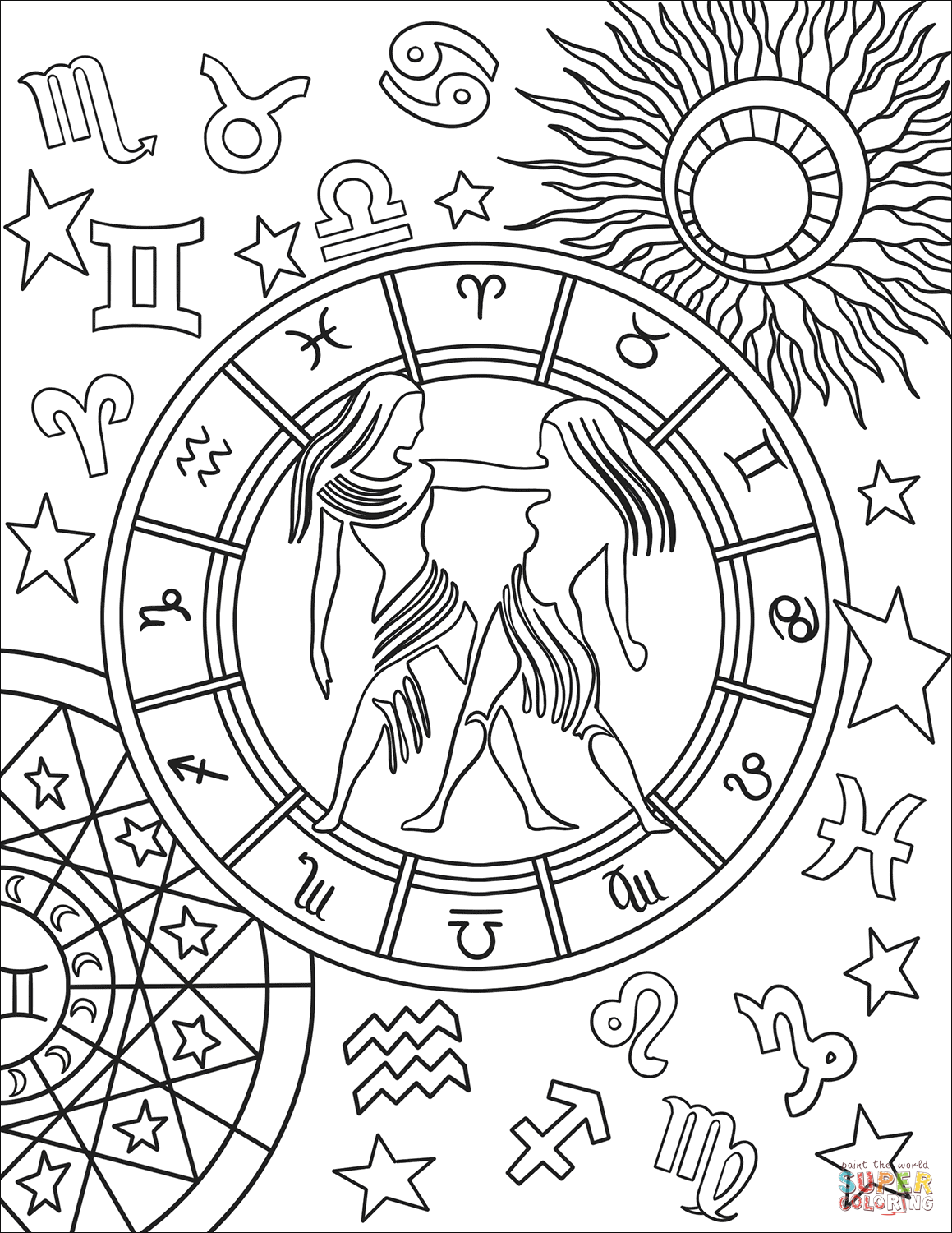 zodiac coloring pages 20 zodiac mandala coloring pages printable coloring pages pages coloring zodiac