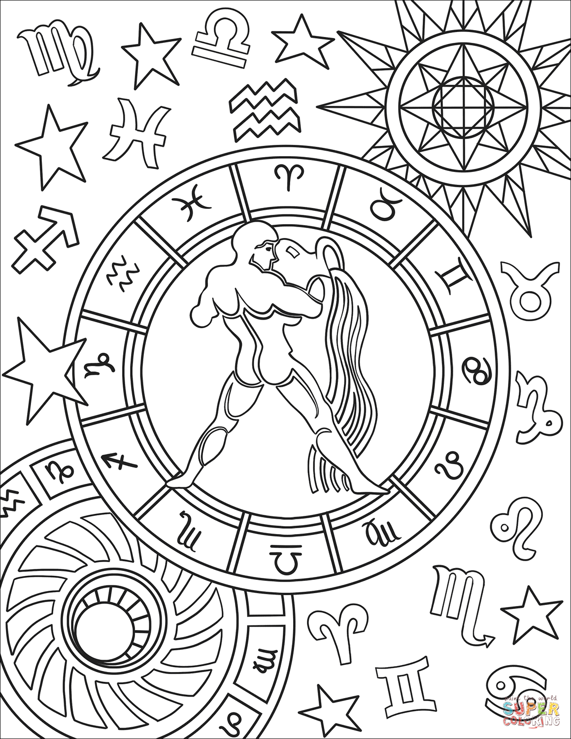 zodiac coloring pages capricorn zodiac sign coloring page free printable pages zodiac coloring