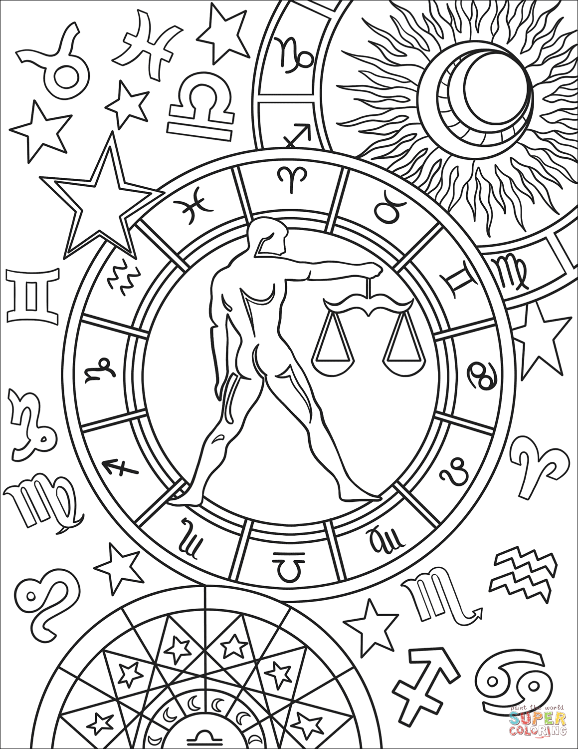 zodiac coloring pages sagittarius astrology coloring download sagittarius coloring pages zodiac