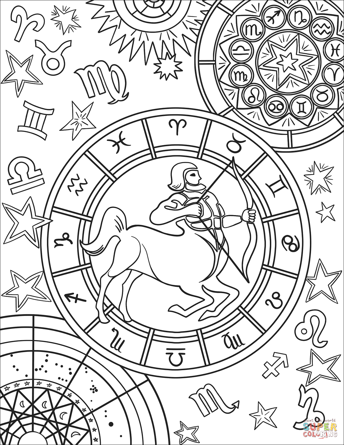 zodiac coloring pages scorpius zodiac sign coloring page free printable zodiac coloring pages