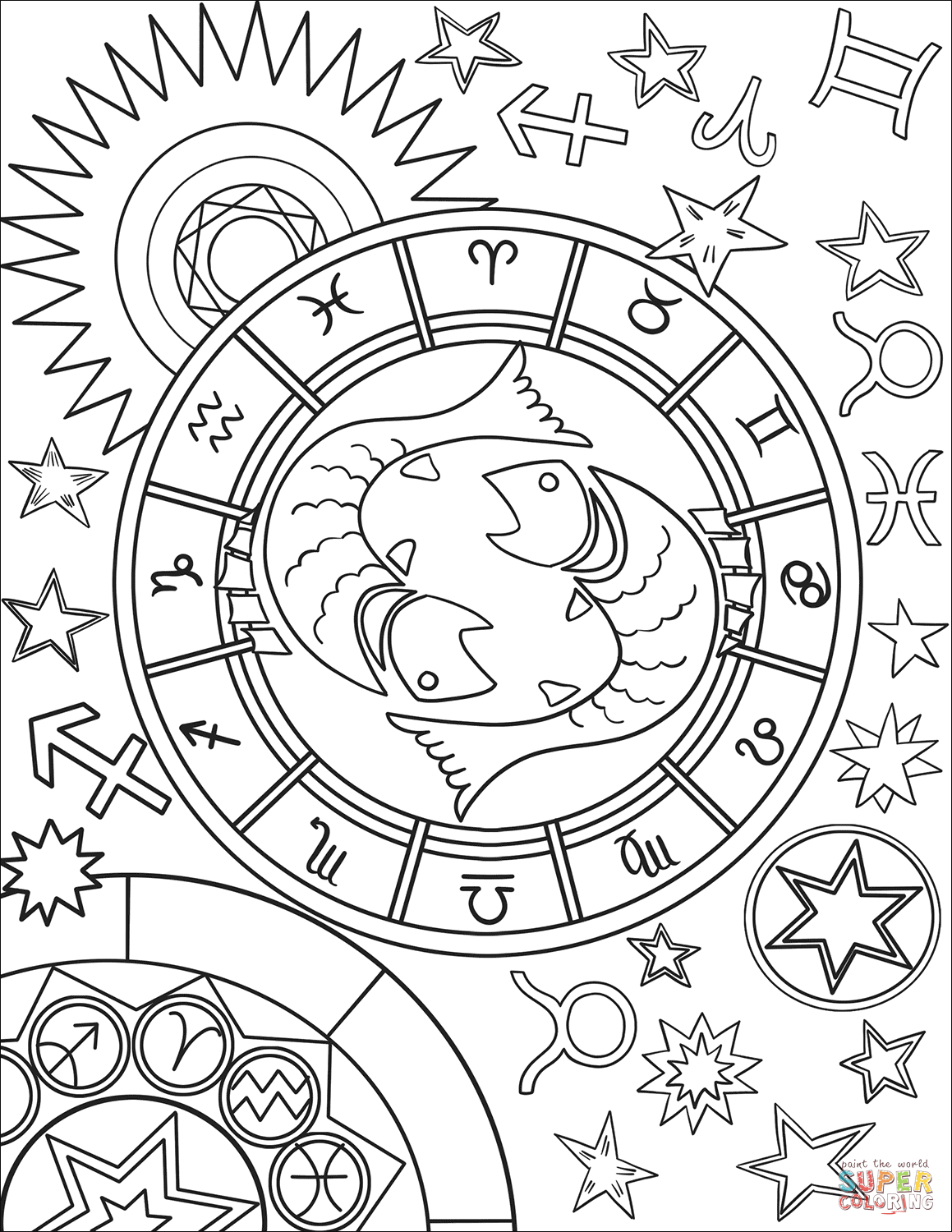 zodiac coloring pages zodiac sign coloring pages 12 printable zodiac coloring coloring zodiac pages