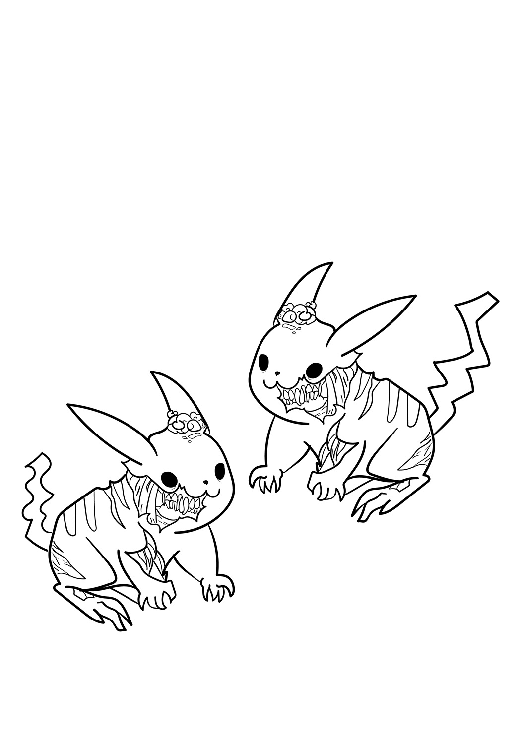 zombie pokemon coloring pages zombie pikachu coloring page through the thousand zombie pages pokemon coloring