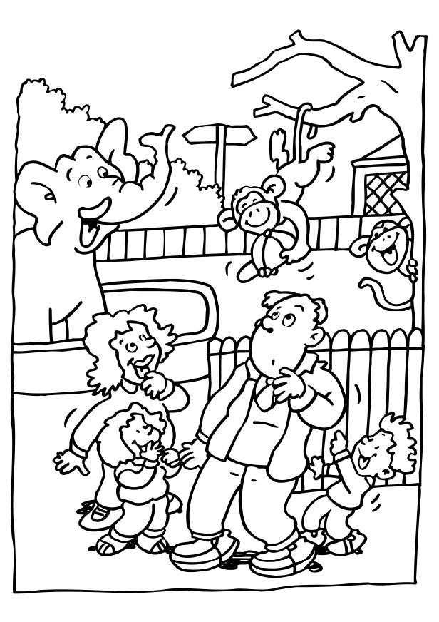 zoo colouring pictures zoo animals coloring page free printable coloring pages colouring pictures zoo